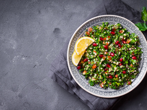 Bulgur and fresh herb salad